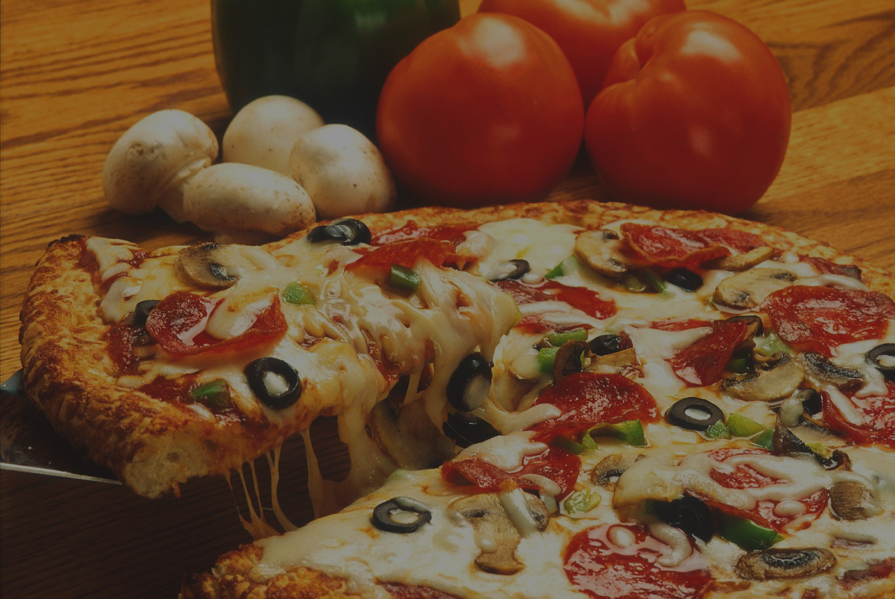 pizza et ingrédients